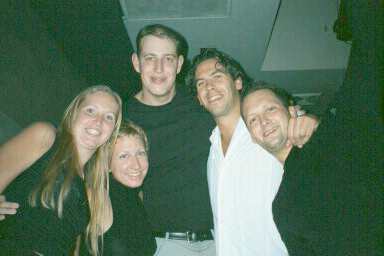 Dutch and Swedish former students in NYC with friends